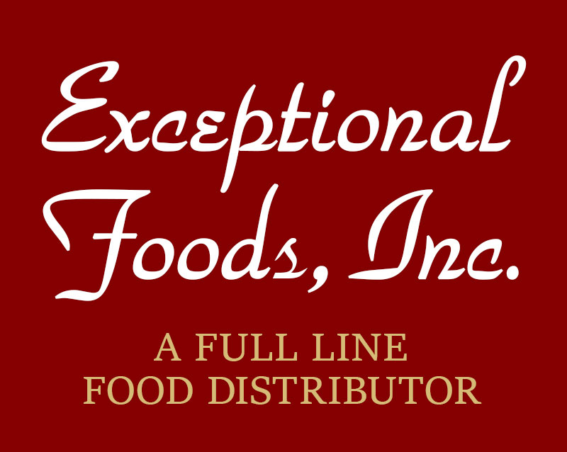 exceptional foods logo and testimonial